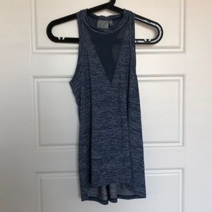 Athleta XXS heather blue razor back tank